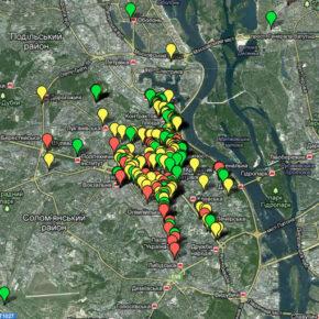 Карта закладів харчування, що порушують права україномовних споживачів